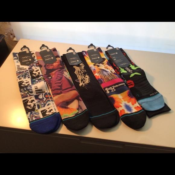 Stance /jimi Hendrix sock lot. Size medium